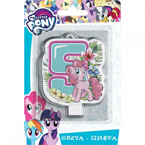 Сandle on a Cake Topper 5 Year My Little Pony Must Have Accessories for the Party Supplies and Birthday