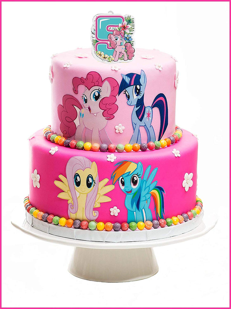 Surprising Sandle On A Cake Topper 5 Year My Little Pony Must Have Personalised Birthday Cards Beptaeletsinfo