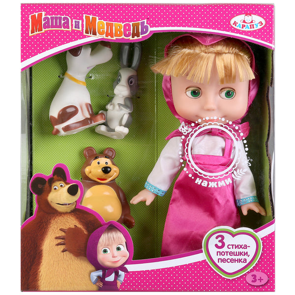 Masha and the Bear Toys Talking Doll Masha and her 4 friends Masha y el Oso