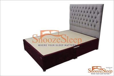 SnoozeSleep Divan Base 4ft Supreno Super Memory Orthopaedic Set