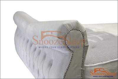 SnoozeSleep JAKARTA Bed 3ft / Diamond Buttons Elite Sleigh Bed Frame