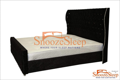 SnoozeSleep Ottoman Bed 3ft / Diamond Buttons Paris Ottoman Sleigh Bed Frame