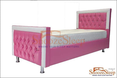 "SnoozeSleep Sleigh Bed 2ft 6"" / Diamond Buttons Altium Sleigh Bed Frame"