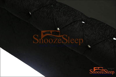 SnoozeSleep Sleigh Bed 3ft / Diamond Buttons Chesterfield Ottoman Sleigh Bed Frame