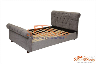 SnoozeSleep Sleigh Bed 3ft / Diamond Buttons Fancy Sleigh Bed Frame