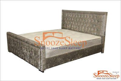 SnoozeSleep Sleigh Bed 3ft / Diamond Buttons KGN Sleigh Bed Frame