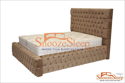 SnoozeSleep Sleigh Bed 3ft / Diamond Buttons Majestic Sleigh Bed Frame