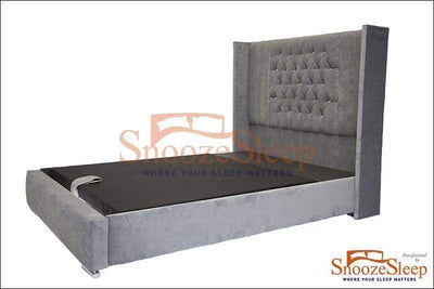 SnoozeSleep Sleigh Bed 3ft / Diamond Buttons Perth Ottoman Sleigh Bed Frame