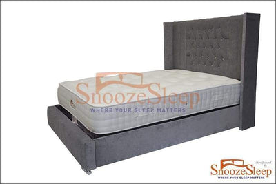 SnoozeSleep Sleigh Bed 3ft / Diamond Buttons Perth Sleigh Bed Frame