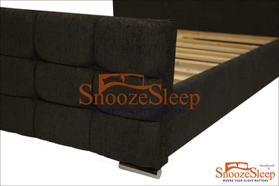 SnoozeSleep Sleigh Bed 3ft / Diamond Buttons Whitehall Sleigh Bed Frame