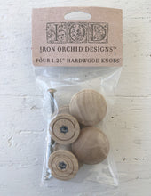 Load image into Gallery viewer, Iron Orchid Designs Wood Knobs