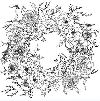 IOD Designs, Winter's Song Wreath transfer
