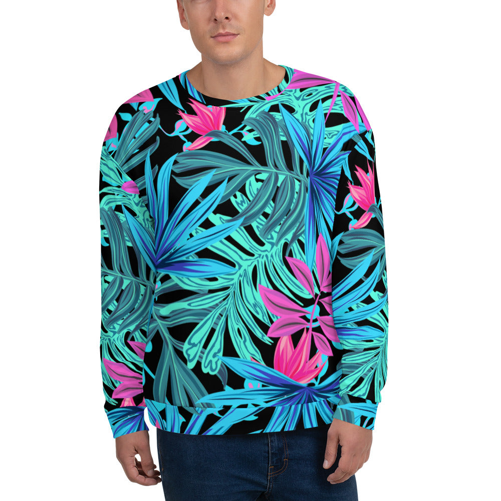 'Prismatic Leaves' Men's Sweatshirt