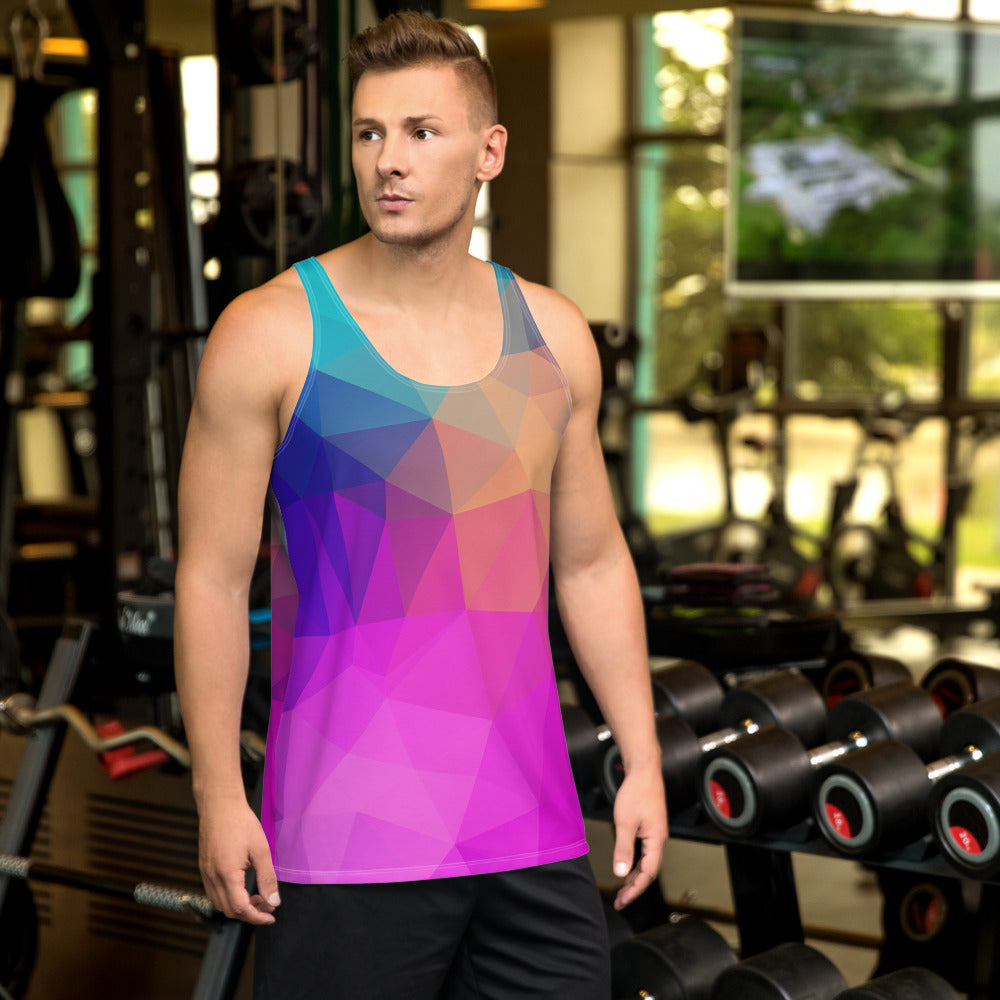 'Colorful Triangles' Men's Tank Top