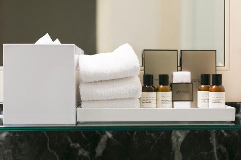 Toiletries like shampoo and body wash