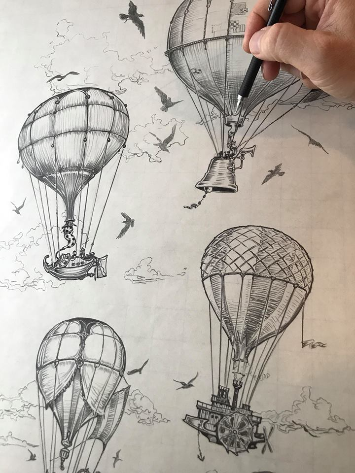 Vintage Hot Air Balloons ~