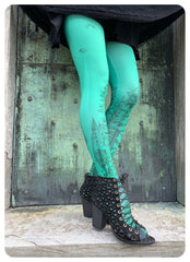 Forest Abduction Leggings - Emerald Experiment