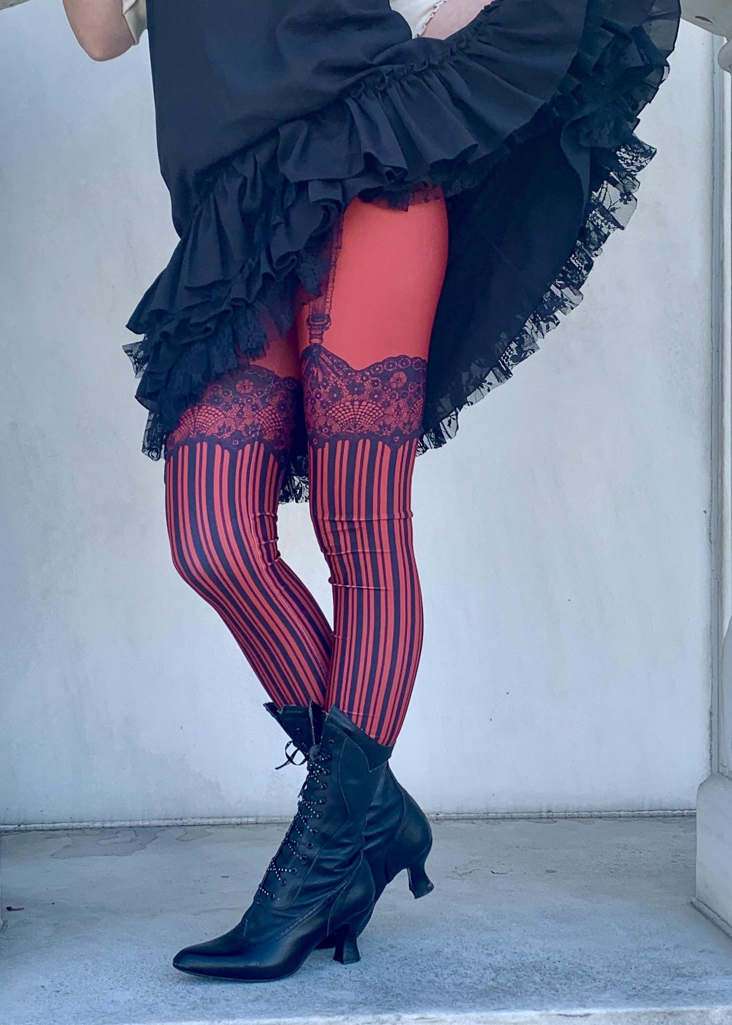 Red Burlesque Leggings