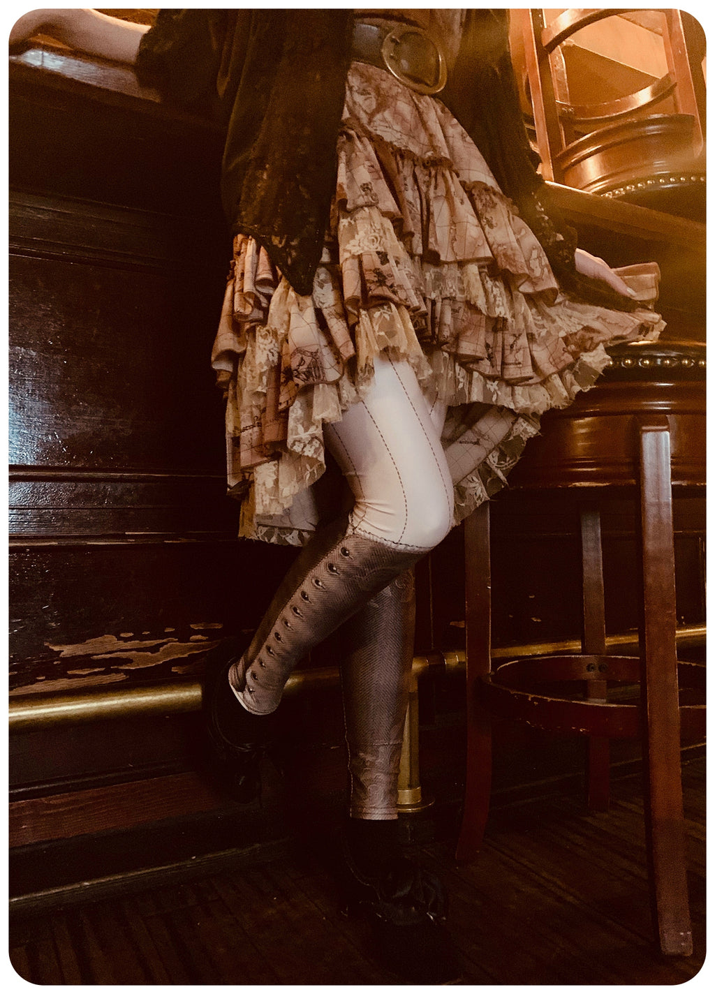 Saloon Leggings - Sepia