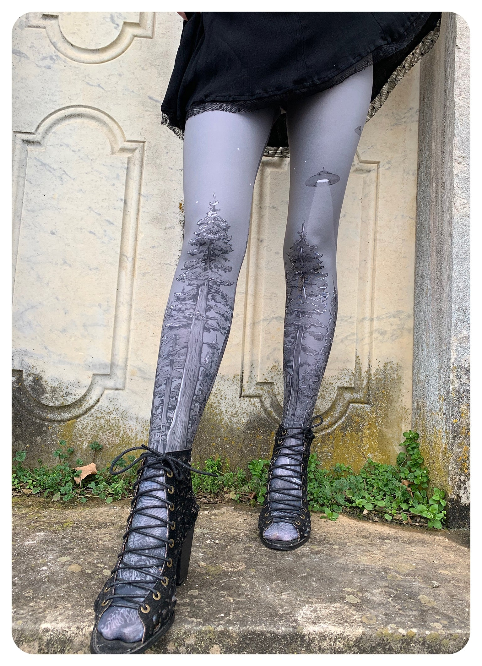 Silver Forest Abduction Leggings