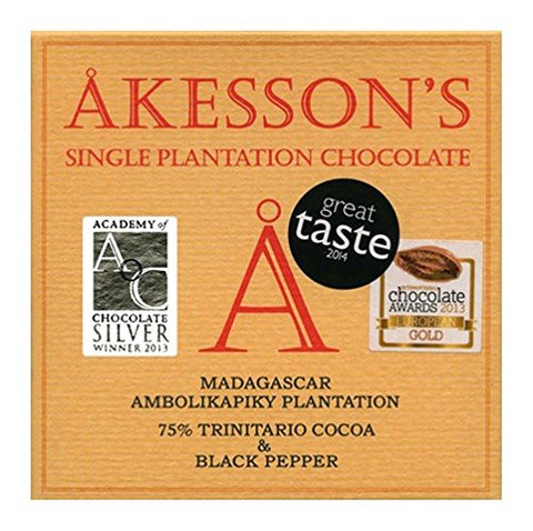 Akesson's 75% Dark Chocolate with Black Pepper