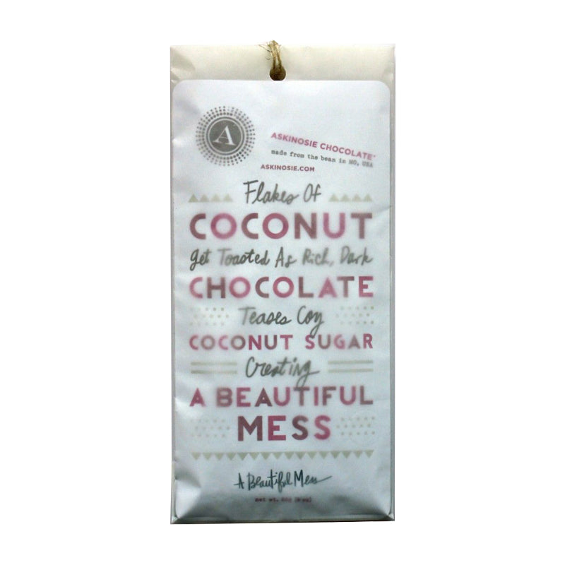 Askinosie Dark Chocolate + Coconut Sugar with Toasted Coconut