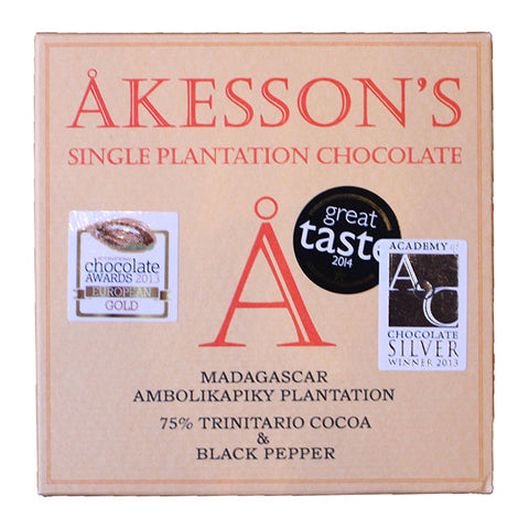 Akessons Madagascar 75% With Black Pepper