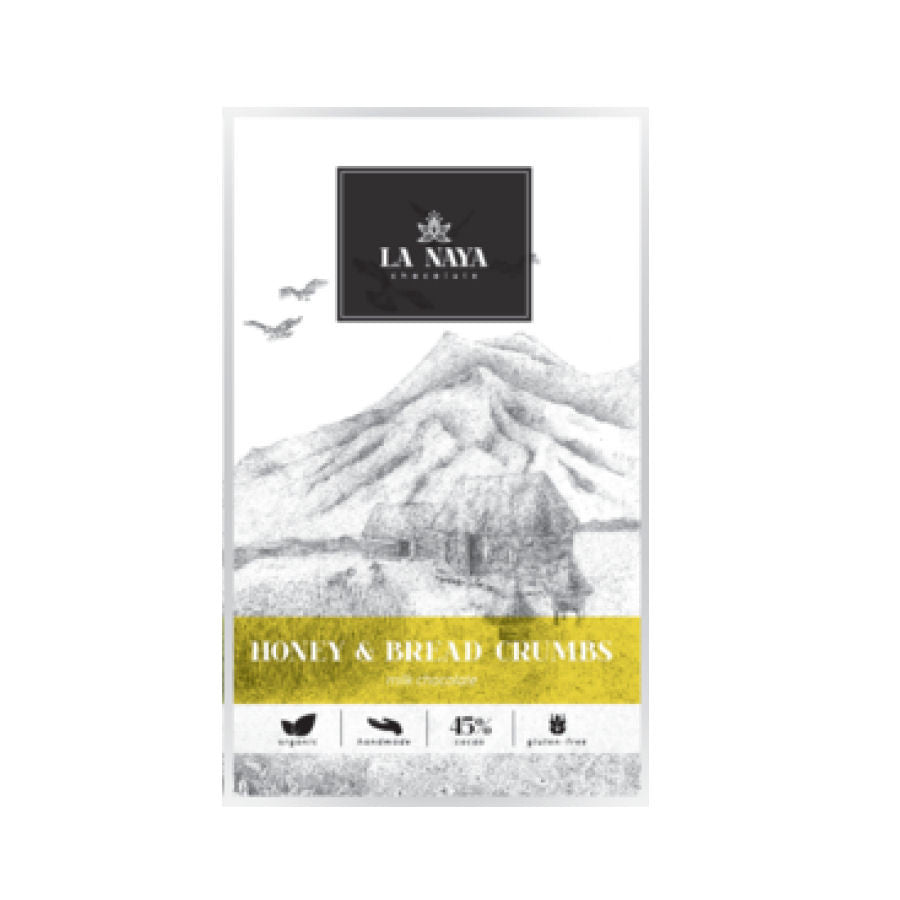 La Naya Honey & Bread Crumbs Milk Chocolate