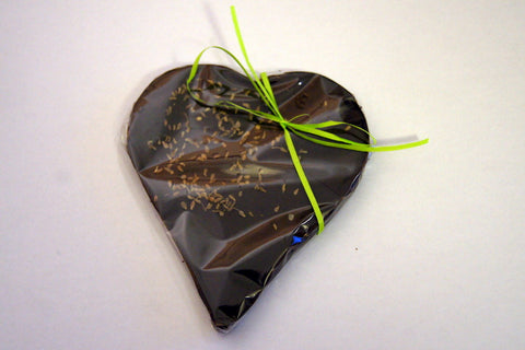 Bouga Cacao 100% Dark Chocolate Heart With Aniseed