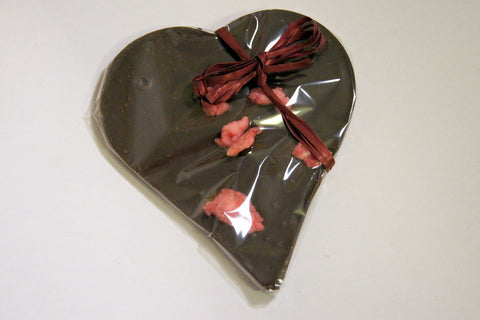 Bouga Cacao 77% Chocolate Heart With Crystallised Rose