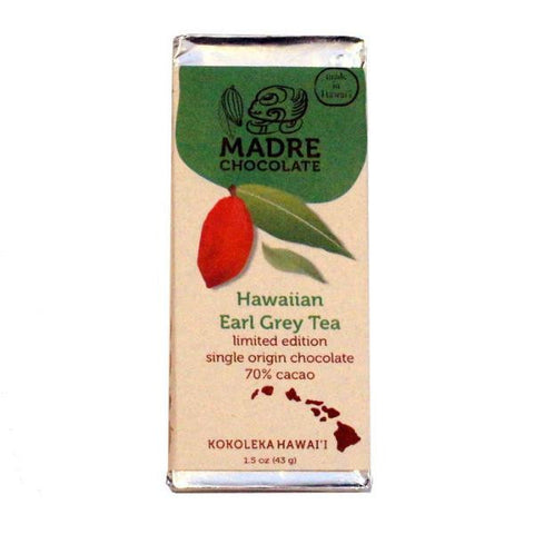 Madre 70% Hawaiian Earl Grey Tea Dark Chocolate