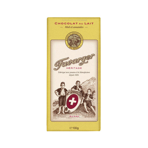 Favarger Honey and Almonds 38% Milk Chocolate