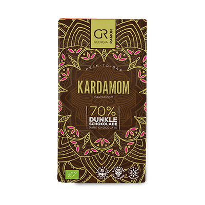 Georgia Ramon - Dark Chocolate Bar with Cardamom