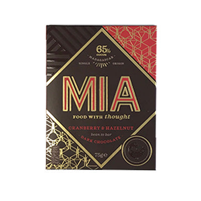 MIA - 65% Dark Chocolate with Cranberry & Hazelnut