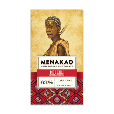 Menakao Dark Chocolate With Bird Chili