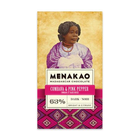 Menakao Dark Chocolate With Combava & Pink Pepper