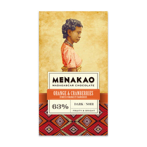 Menakao Dark Chocolate With Orange & Cranberries
