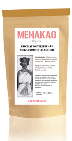 Menakao Milk Chocolate 44% Couverture 340g