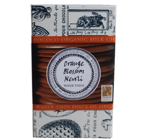 Orange Blossom Neroli Organic Milk Chocolate Wafer Thins