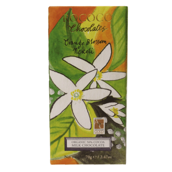 Orange Blossom Neroli Organic Milk Chocolate Artisan Bar