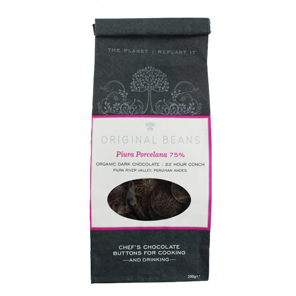 Original Beans Piura Porcelana 75% Chocolate Buttons