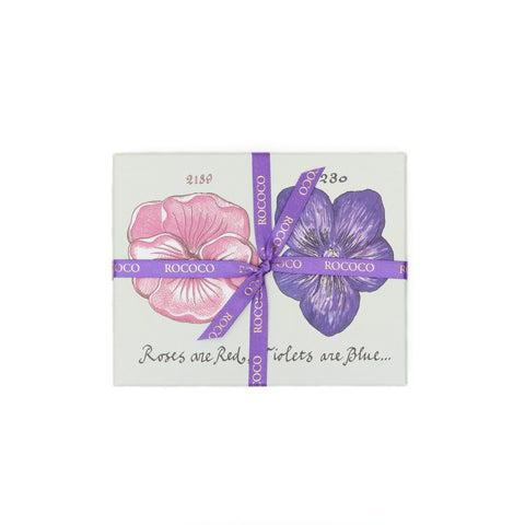 Small Rose & Violet Creams Chocolate Box