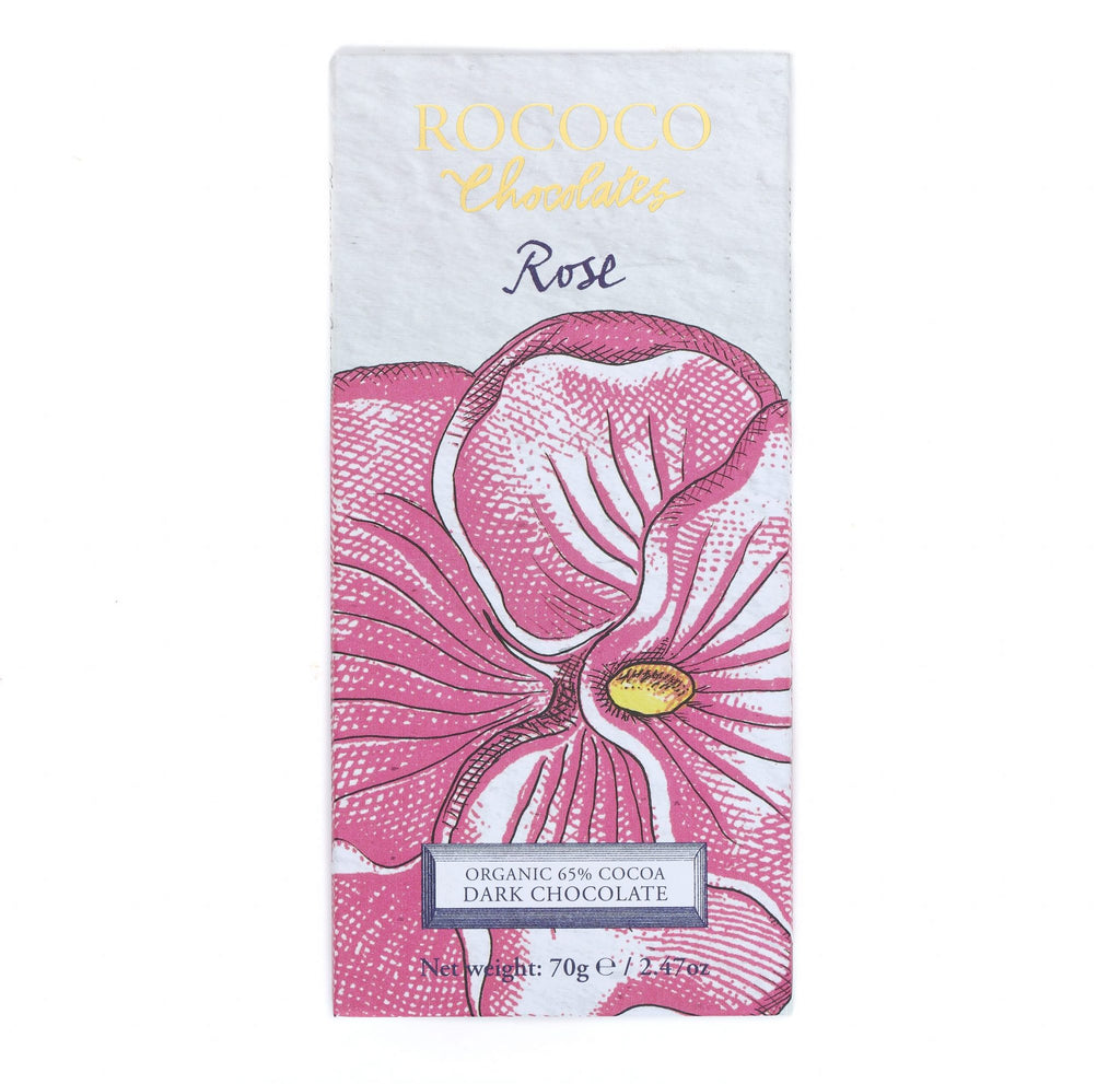 Rose Organic Dark Chocolate Artisan Bar