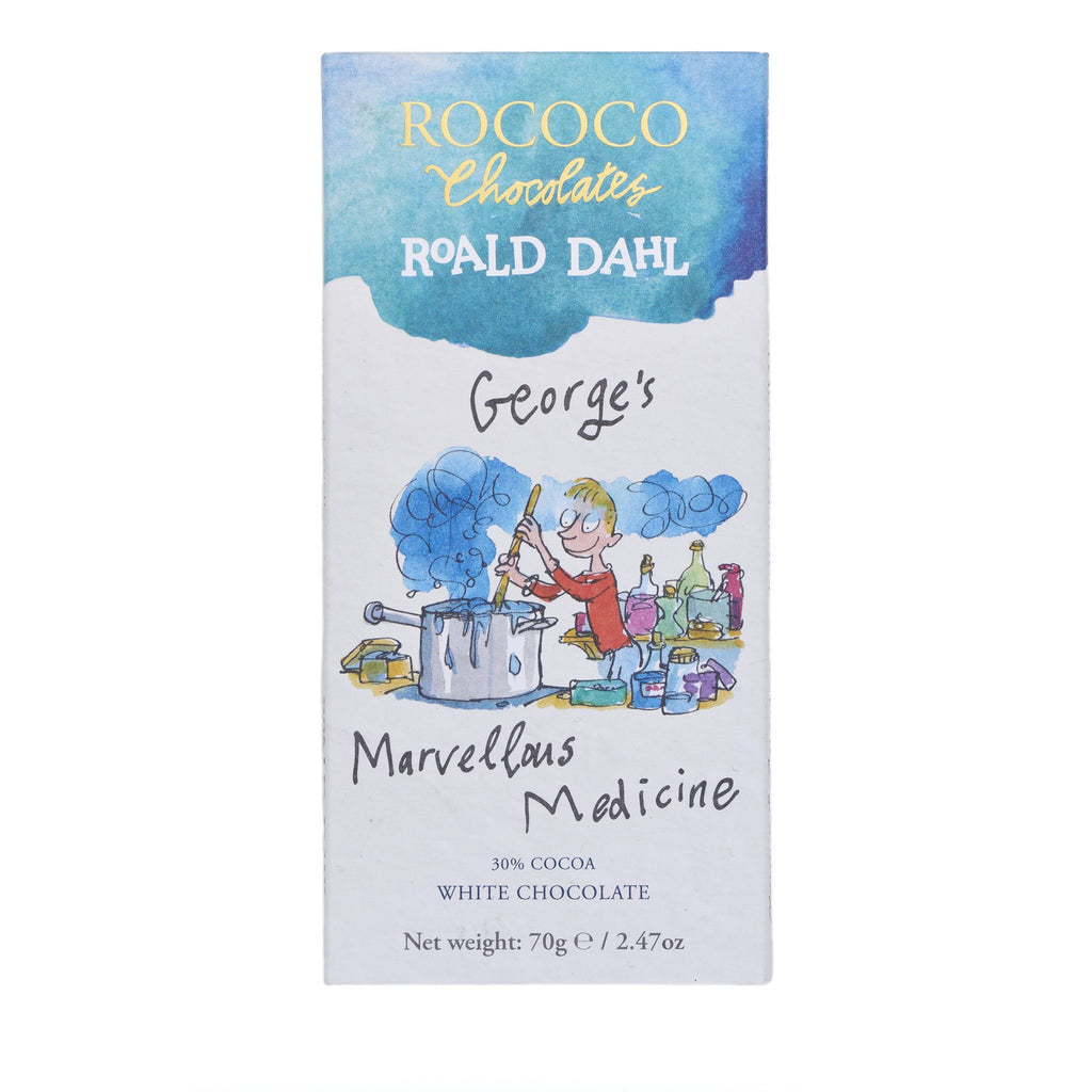 Rococo & Roald Dahl: George's Marvellous Medicine White Chocolate Bar