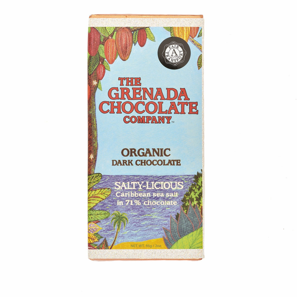 Grenada Chocolate Company Salty-licious 71% Organic Dark Chocolate