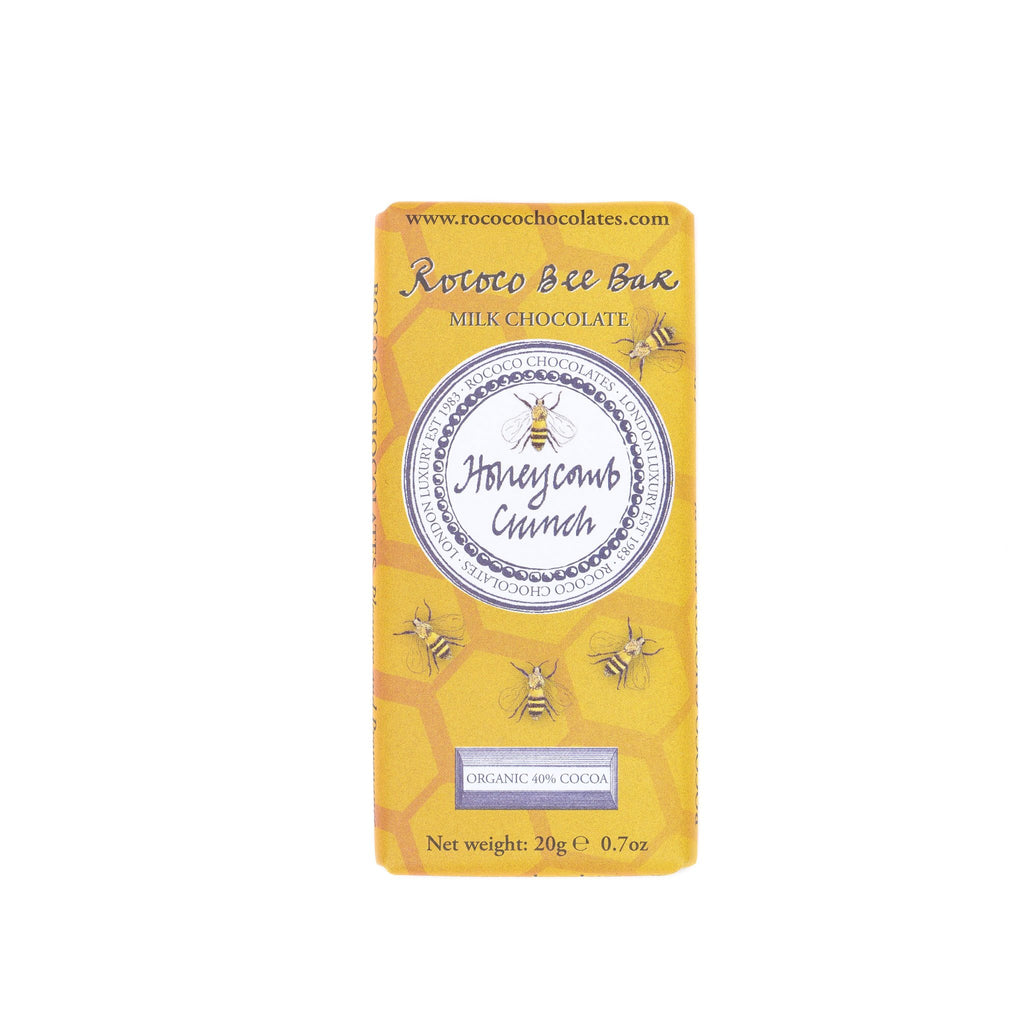 Honeycomb Crunch Organic Milk Chocolate Bee Bar