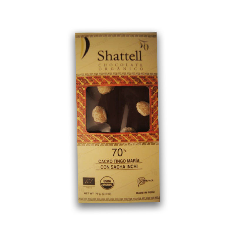 Shattell - Tingo Maria 70% with Sacha Inchi