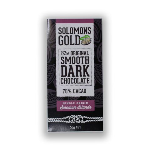Solomons Gold 70% Dark Chocolate (CARTON160) - Cocoa Runners