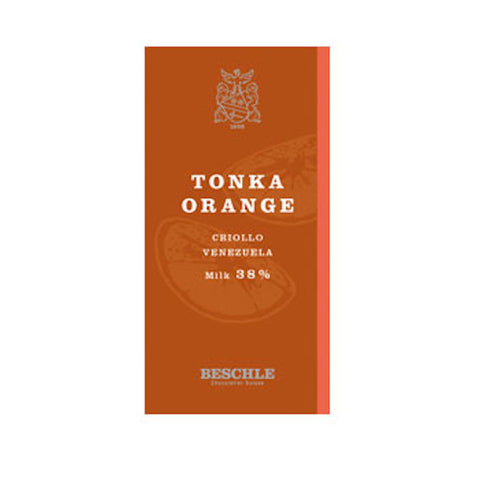 Beschle Tonka & Orange Criollo 38% Milk Chocolate