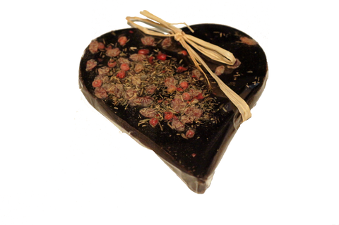 Bouga Cacao 100% Chocolate Heart With Spices & Berries